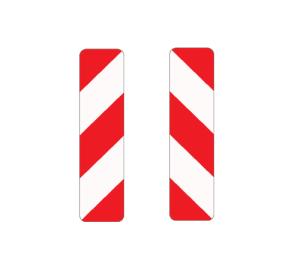 Verkehrszeichen 605-40 / 605-44 StVO, Leitbake, doppelseitig, links / rechtsweisend (Maße/Folie/Form:  <b>1000x250mm</b>/RA1/Flachform 2mm (Art.Nr.: 605-40-111))