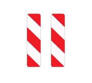 Verkehrszeichen 605-41 / 605-45 StVO, Leitbake, doppelseitig, rechts / rechtsweisend (Maße/Folie/Form:  <b>1000x250mm</b>/RA1/Flachform 2mm (Art.Nr.: 605-41-111))
