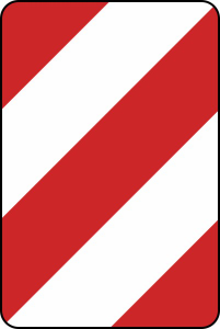 Verkehrszeichen 626-10 StVO, Leitplatte, Aufstellung rechts (Folie/Form: RA1/Flachform 2mm (Art.Nr.: 626-10-111))