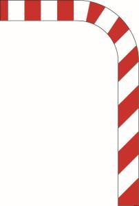 Verkehrszeichen 627-50 StVO, Leitmal pro lfdm., gebogen (Form: Flachform 2 mm (Art.Nr.: 627-50-3))