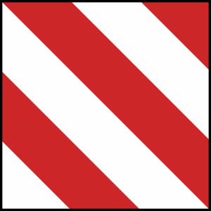 Verkehrszeichen 630-20 DIN 11030 und TPESC A, Parkwarntafel, rechts vorbei (Ausführung: Verkehrszeichen 630-20 DIN 11030 und TPESC A, Parkwarntafel, rechts vorbei (Art.Nr.: 630-20))