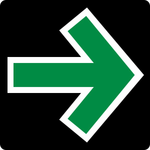 Verkehrszeichen 720 StVO, Grünpfeilschild (Ausführung: Verkehrszeichen 720 StVO, Grünpfeilschild (Art.Nr.: 720))