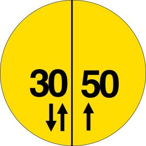 Verkehrszeichen Br. 3 StVO, Militärische Tragfähigkeitszeichen an Brücken (Nato-Brückenschild) (Form: Flachform 2 mm (Art.Nr.: br-3-1))