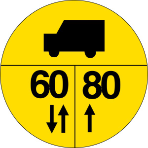 Verkehrszeichen Br. 4 StVO, Militärische Tragfähigkeitszeichen an Brücken (Nato-Brückenschild) (Form: Flachform 2 mm (Art.Nr.: br-04-1))