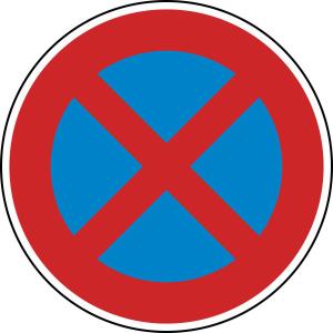 Verkehrszeichen StVO, Absolutes Haltverbot Nr. 283 (Durchmesser/Folie/Form:  <b>420mm</b>/RA1/Flachform 2mm (Art.Nr.: 283-111))