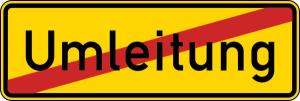 Verkehrszeichen StVO, Ende der Umleitung Nr. 457.2 (Folie/Form: RA1/Flachform 2mm (Art.Nr.: 457.2-111))
