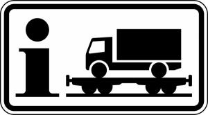 Verkehrszeichen StVO, Information Rollende Landstra&szlig;e Nr. 1010-14 (Ma&szlig;e/Folie/Form:  <b>330x600mm</b>/RA1/Flachform 2mm (Art.Nr.: 1010-14-211))