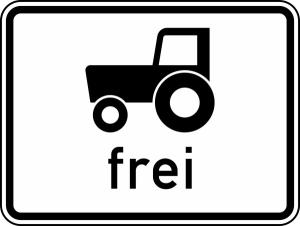 Verkehrszeichen StVO, Kraftfahrzeuge und Z&uuml;ge, ... frei Nr. 1024-17 (Ma&szlig;e/Folie/Form:  <b>315x420mm</b>/RA1/Flachform 2mm (Art.Nr.: 1024-17-111))