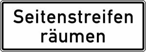 Verkehrszeichen StVO, Seitenstreifen räumen Nr. 1013-51 (Form/Folie: RA1/Flachform 3mm (Art.Nr.: 1013-51-113))