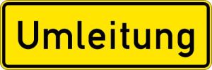 Verkehrszeichen StVO, Umleitungsankündigung Nr. 457.1 (Folie/Form: RA1/Flachform 2mm (Art.Nr.: 457.1-111))