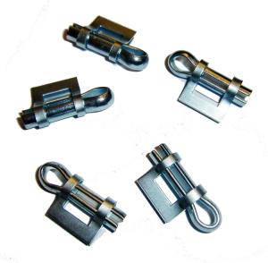 Verschlüsse für Schellenband -Kennflex-, VPE 100 Stk. (Modell/Material/Menge: Splintverschlüsse / Stahl, verzinkt / VPE 100 Stk. (Art.Nr.: 90.3927))