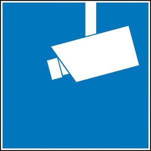 Video-Infozeichen, nach DIN 33450 (Maße (B x H)/Material: 30 x 30 mm/Folie<br>12er Bogen (Art.Nr.: 30.5194))
