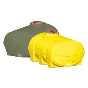 Vielzweckfass aus PE, 1000 - 8000 Liter, gelb oder grün (volumenabhängig) (Volumen/Farbe/LxBxH:  <b>1000 Liter gelb</b><br>1490x1230x910mm<br>ohne Schwallwände  (Art.Nr.: 14685))