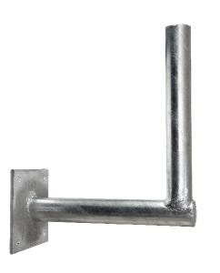 Wandarm zur Schilderbefestigung, aus Stahl, Ø 60 mm, zum Aufdübeln (Ausführung: Wandarm zur Schilderbefestigung, aus Stahl, Ø 60 mm, zum Aufdübeln (Art.Nr.: 90.2788))