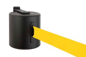 Wandgurtkassette -P-Line - aus Metall, Gurtlänge 20 m, für Innen- und Außenbereich, drehbar (Gurtfarbe: rot (Art.Nr.: 34246-01))