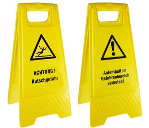 Warnaufsteller, Höhe 610 mm (Aufdruck: Durchgang verboten! (Art.Nr.: 90.9480-10))