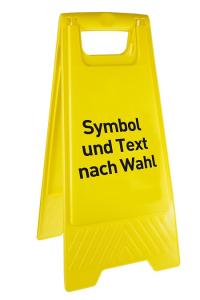 Warnaufsteller, Höhe 610 mm, mit individueller Beschriftung (Ausführung: Warnaufsteller, Höhe 610 mm, mit individueller Beschriftung (Art.Nr.: 90.9481))
