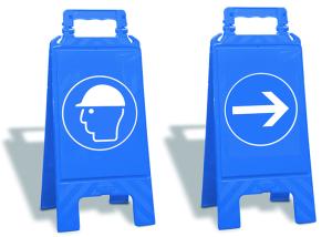 Warnaufsteller für Gebote, Höhe 610 mm (Aufdruck: Gehörschutz benutzen (Art.Nr.: 35955))