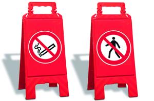Warnaufsteller für Verbote, Höhe 610 mm (Aufdruck: Rauchen verboten (Art.Nr.: 35951))