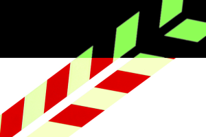 Warnmarkierungsstreifen aus Aluminium, 1000 mm, rot / langnachleuchtend (Breite / Richtungsweisung: rechtsweisend (Art.Nr.: 15.7385))