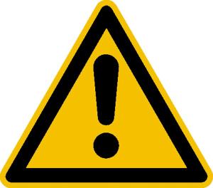 Warnschild, Allgemeines Warnzeichen (Maße (SL)/Material/Variante: 12,5 mm / Folie, 500er-Rolle (Art.Nr.: 31.1108))