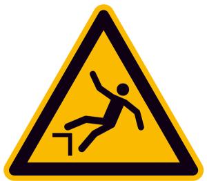 Warnschild, Warnung vor Absturzgefahr (Maße (SL) / Material: 100 mm / Alu, geprägt (Art.Nr.: 11.a8185))