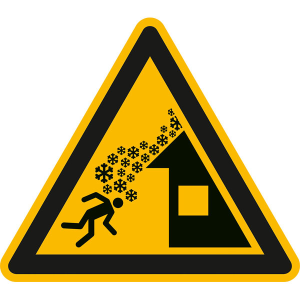 Warnschild, Warnung vor Dachlawine (Maße (SL): 200 mm (Art.Nr.: 50.a8312))