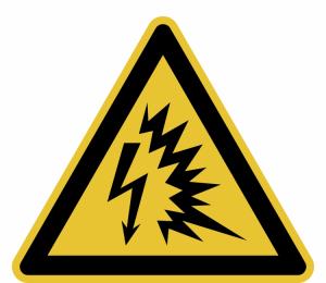 Warnschild, Warnung vor Lichtbogen (Maße (SL)/Material: 50 mm / Folie, selbstklebend,<br>10er-Bogen (Art.Nr.: 30.a8340))