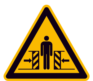Warnschild, Warnung vor Quetschgefahr (Maße (SL) / Material: 100 mm / Alu, geprägt (Art.Nr.: 11.0324))