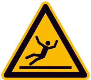 Warnschild, Warnung vor Rutschgefahr (Maße (SL) / Material: 100 mm / Folie, selbstklebend (Art.Nr.: 21.a8170))