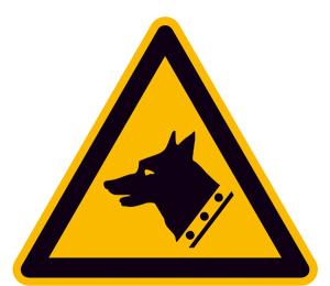 Warnschild, Warnung vor Wachhund (Maße (SL) / Material: 200 mm / Folie, selbstklebend (Art.Nr.: 21.a8240))