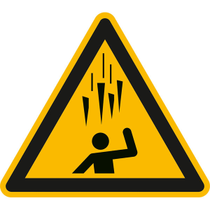 Warnschild, Warnung vor herabfallenden Eiszapfen (Maße (SL): 200 mm (Art.Nr.: 50.a8322))
