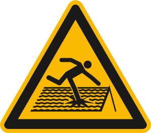 Warnschild, Warnung vor nicht durchtrittsicherem Dach (Ausführung: Warnschild, Warnung vor nicht durchtrittsicherem Dach (Art.Nr.: 11.a8280))