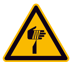Warnschild, Warnung vor spitzem Gegenstand (Maße (SL)/Material: 100 mm / Folie, selbstklebend (Art.Nr.: 21.a8200))