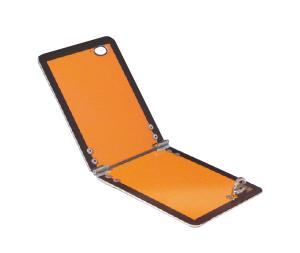 Warntafel nach ADR, 300 x 120 mm, klappbar, wahlweise mit Kantenschutz (Modell: ohne Kantenschutz (Art.Nr.: 20384))