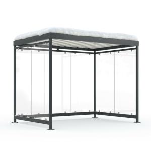 Wartehalle -Modell K3 b / b- ALPINE, einseitig