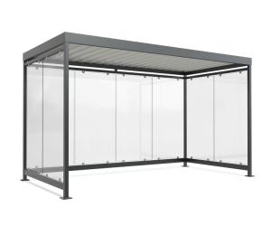 Wartehalle -Modell K4 b / b-, einseitig