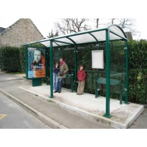 Wartehalle -Station-, Breite 5000 mm, mit Fahrplanschaukasten