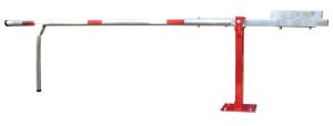 Wegeschranke mit Gegengewicht und Pendelstütze, Breite 3000 - 7000 mm