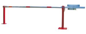 Wegeschranke mit Gegengewicht und fester Auflagestütze, Breite 3000 - 7000 mm