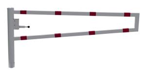 Wegesperre 360° drehbar, selbsteinrastende Verriegelung, zum Einbetonieren oder Aufdübeln, Breite 1500 - 3500 mm