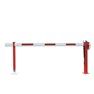 Wegesperre mit Gasdruckfeder -Alpha 31- mit Auflagen- oder Pendelstütze, Breite 3000 - 6000 mm