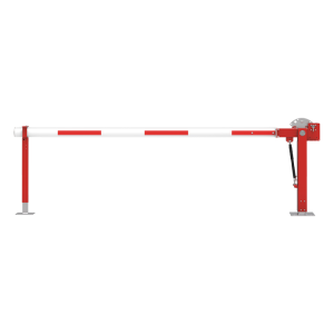 Wegesperre mit Gasdruckfeder -Alpha 350- mit Auflagen- oder Pendelstütze, Breite 2000 - 8000 mm