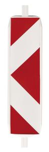 Wendebake 60 / 60, Pfeilfolie RA1 (Richtungsangabe/Folienbeklebung: rechts-/linksweisend<br>einseitig (Art.Nr.: 18697))