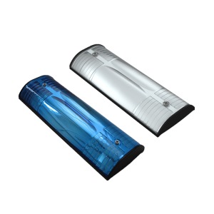 Wildwarnreflektor für Leitpfosten, lichtblau oder silberweiß (Farbe: lichtblau (Art.Nr.: 40951))