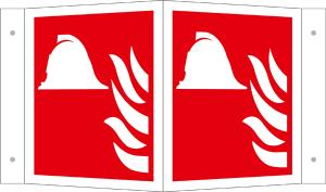 Winkelschild, Mittel und Geräte zur Brandbekämpfung (Maße(BxH)/Material: 150 x 150 mm / Alu, beschichtet (Art.Nr.: 15.a5195))
