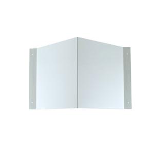 Winkelschild Quadrat zur Wandmontage, für Folienschilder, neutral (Maße Folienschilder (BxH)/Montagemaß (BxHxT): 100 x 100 mm / 176 x 100 x 70 mm (Art.Nr.: 51.9549))
