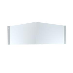 Winkelschild Rechteck für Folienschilder, zur Wandmontage, neutral (Maße Folienschilder(BxH)/Montagemaß(BxHxT): 300 x 150 mm / 460 x 150 x 205 mm (Art.Nr.: 51.9550))