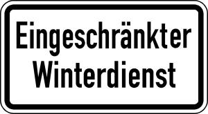 Winterschild 2008 StVO, Eingeschränkter Winterdienst (Maße/Folie/Form:  <b>231x420 mm</b> / RA1 / Flachform 2 mm (Art.Nr.: 2008-111))
