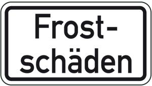 Winterschild / Verkehrszeichen, Frostschäden (Maße (BxH): 420x231mm (Art.Nr.: 14163))